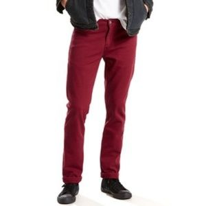 New Mens Levi's 501 Red Pomegranate 34x34 Jeans
